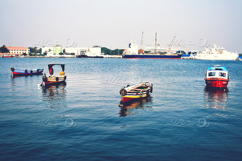 Ship and the boats