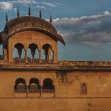 Indian Flag flying on the top of Amer Fort, Jaipur
