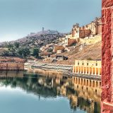Amer Fort Reflection in the Maota Lake