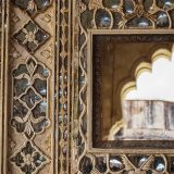 Mirror on the wall of Amer Fort, Jaipur