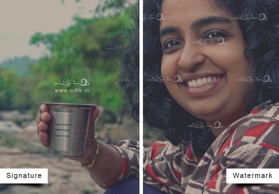 Girl with chai watermark logo nikk